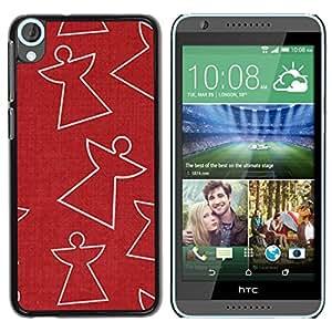 Be Good Phone Accessory // Dura Cáscara cubierta Protectora Caso Carcasa Funda de Protección para HTC Desire 820 // Red Angel Pattern Merry