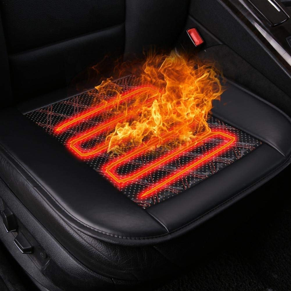 KJRJQC Car Heated Seat Cover Cushion Hot Warmer - Premium Quality 12V Fireproof Heating Warmer Pad Cover Perfect for Cold Weather and Winter Driving by KJRJQC