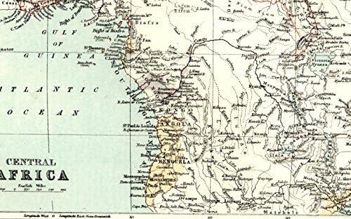 Amazon.com: Central Africa Congo Kenya Angola Uganda 1885 ...