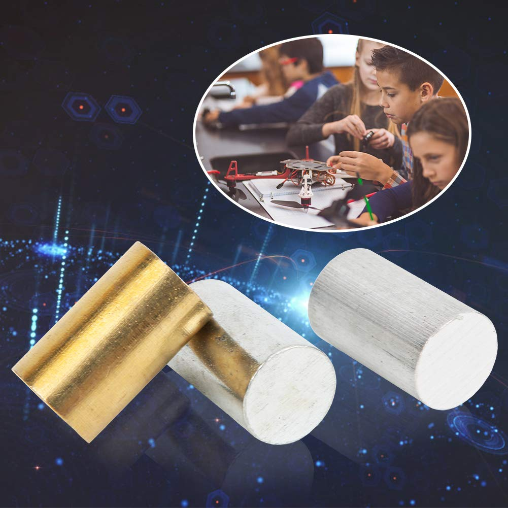 Specific Gravity Activities 3-Piece Equal Length Cylinders Brass Iron Aluminum for use with Density