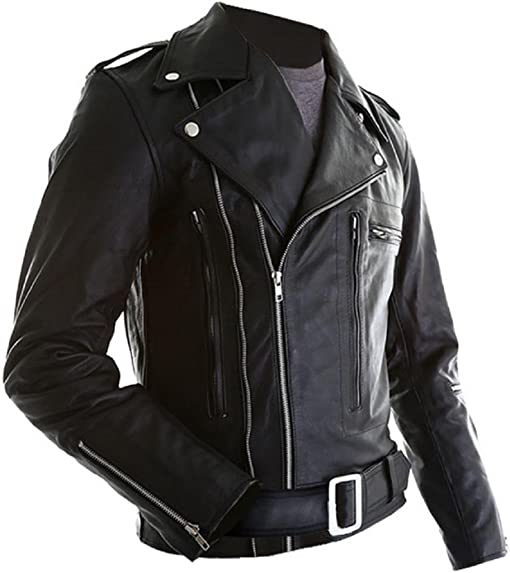 The Leather Factory Men's Real Leather Jacket Arnold ...