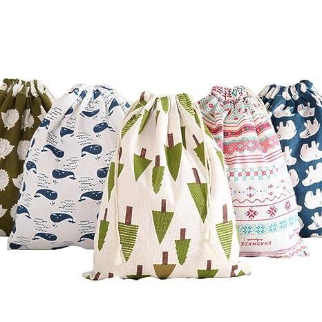 5 bolsas de regalo de algodón con diseño de monedas, bolsa ...