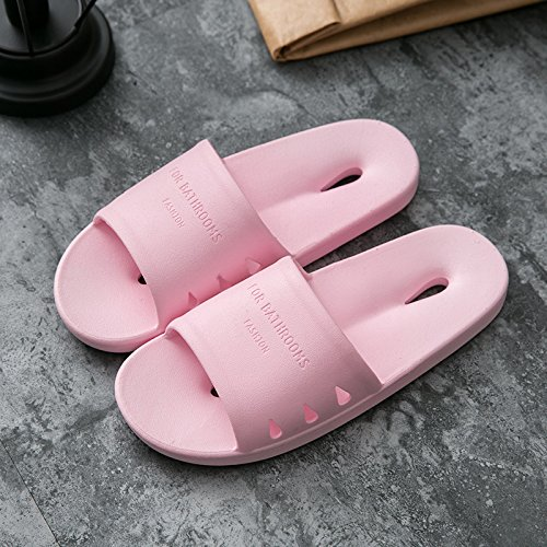 fankou Slippers Women Indoor Summer Anti-Slip Home with Lovely Cartoon Couples Home Bath Bathroom Cool Slippers Male Summer,37-38, Pink Hole-Hole Cool Slippers