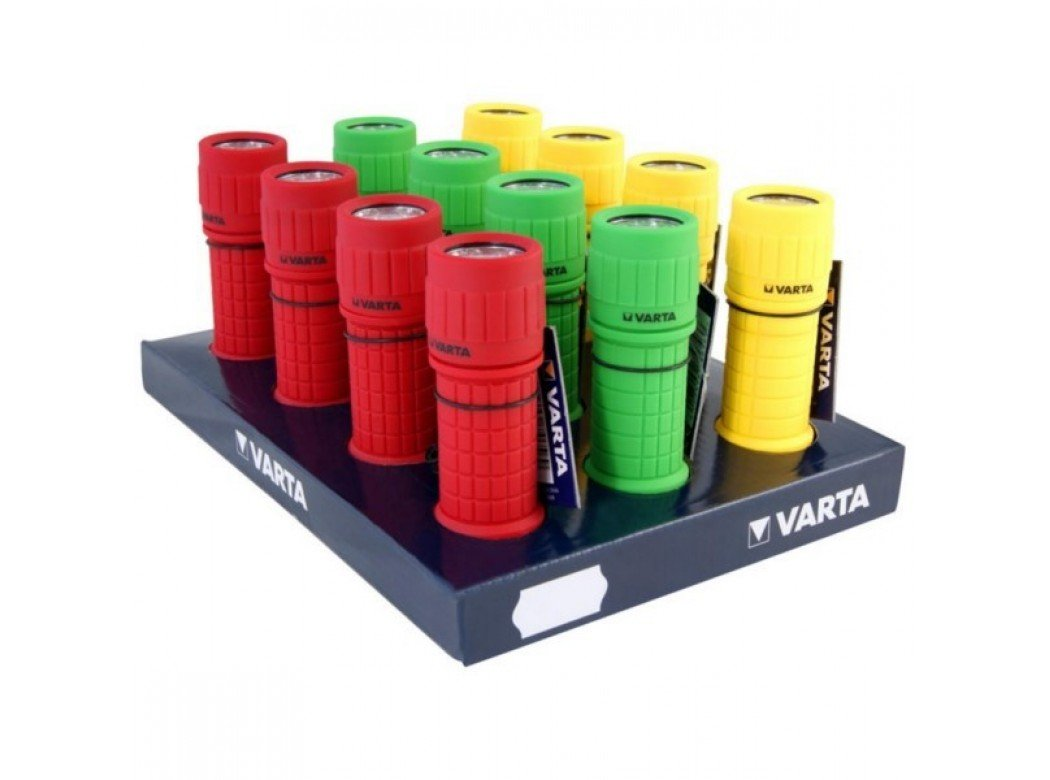 Varta Taschenlampe 9x LED Light 3AAA, im Thekendisplay VE = 12