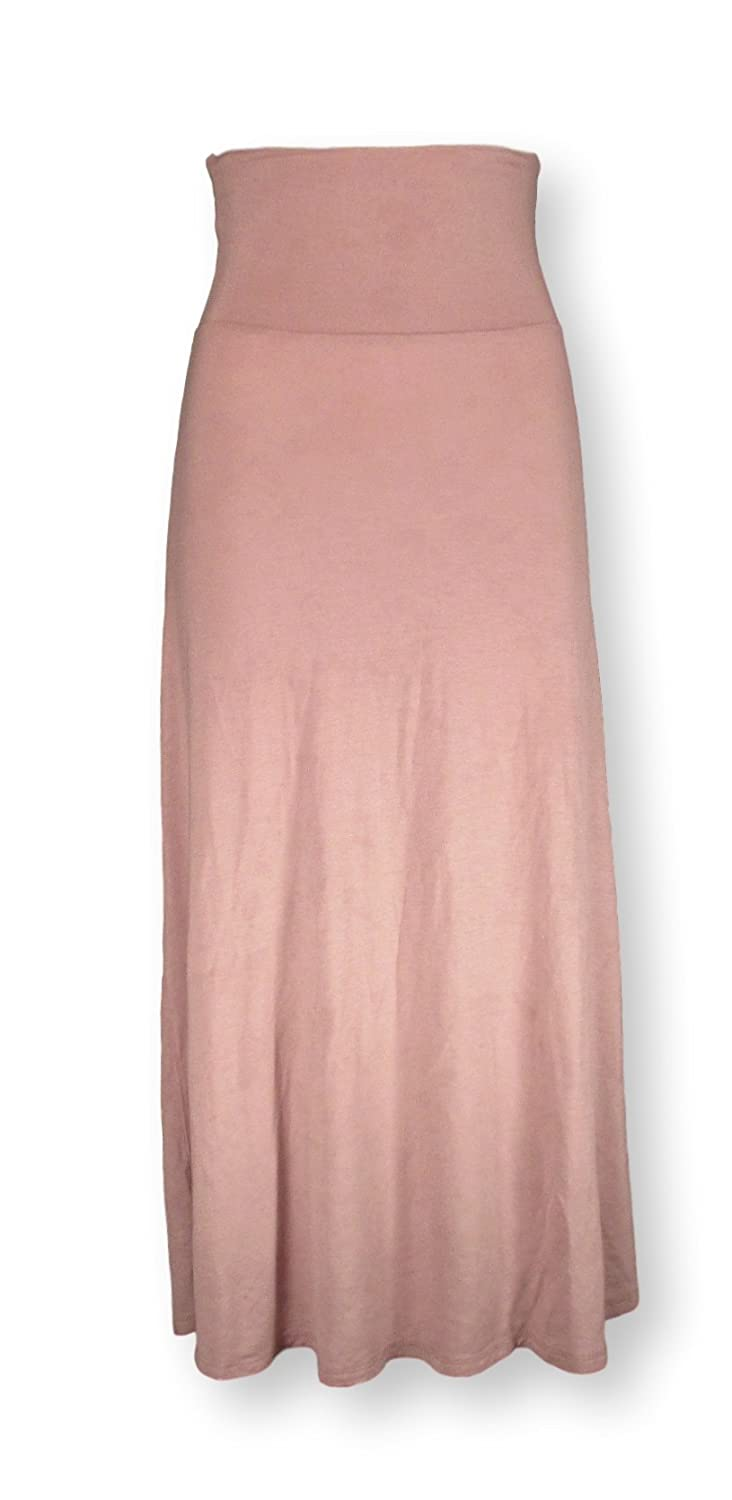 Superline Womens Maxi Skirt Taupe Small