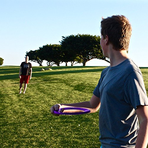 Best Kid's Frisbee Rings [Pink/Purple] Super Fun Christmas Gifts & Birthday Presents - Cool Toys for Boys, Girls & Family to Play Outdoor Toss Games in Backyard, Pool or Park - Made in USA