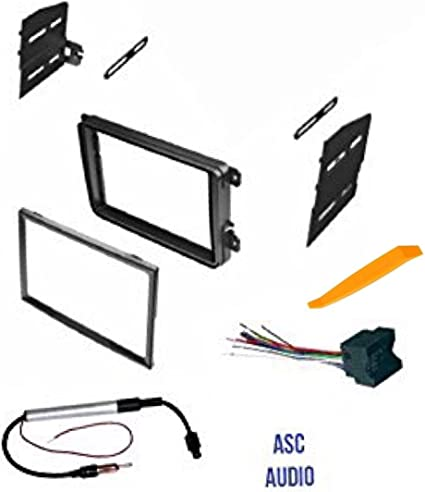 ASC Double Din Car Stereo Radio Dash Kit, Wire Harness, and Antenna on vw radio removal tool, vw bus wiring harness, vw turn signal wiring harness,