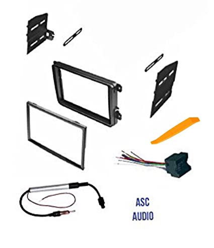 Amazon com: ASC Double Din Car Stereo Radio Dash Kit, Wire