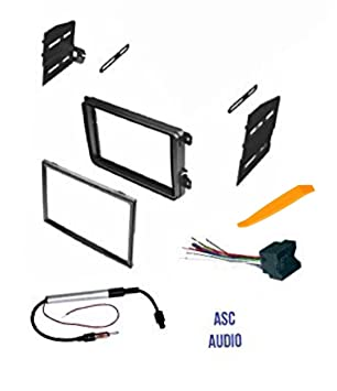 61cdp8j6s4L._SY355_ amazon com asc double din car stereo radio dash kit, wire harness Wiring Harness Diagram at creativeand.co