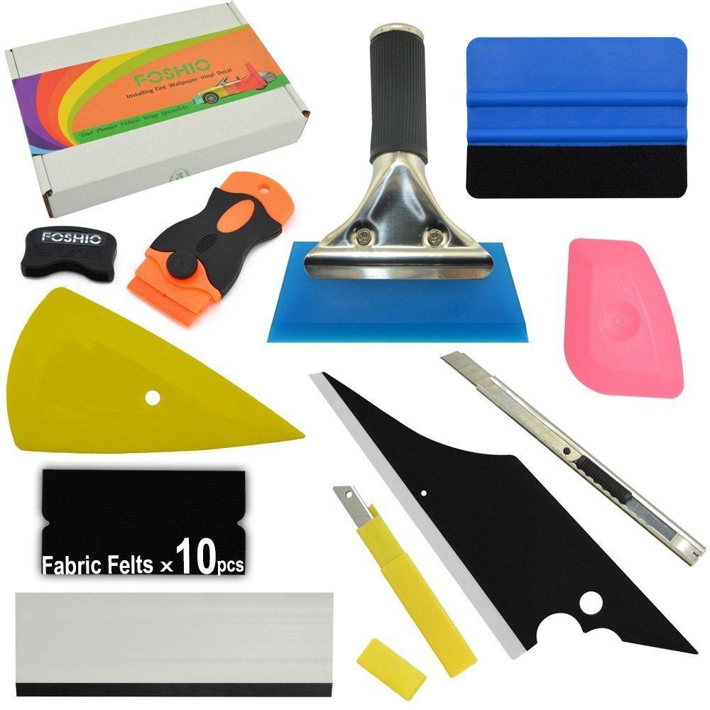 FOSHIO FS19-FBA Kit de Herramientas de Instalació n de Vinilo, Multicolor, S-F