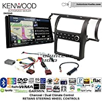 Volunteer Audio Kenwood Excelon DNX994S Double Din Radio Install Kit with GPS Navigation Apple CarPlay Android Auto Fits 2003-2004 Infiniti G35 (Charcoal) (Dual zone A/C controls)