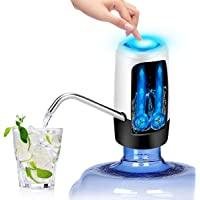 Cheelom USB Portable Automatic Water Dispenser Rechargeable Wireless Electric Drinking Water Pump Fast Pumping Universal Gallon Bottle Water Pump Dispenser Switch