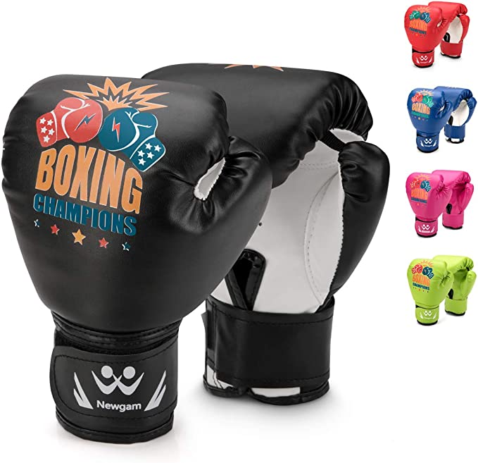 Boom Pro Kids Boxing Gloves Junior MMA Punching Bag Training Sparring Muay Thai