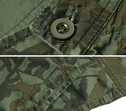 Panegy Adultes Combat Shorts pour Homme/Garçon Coton Bermudas Treillis Militaire Cargo Armée Pantalon de Travail… 3
