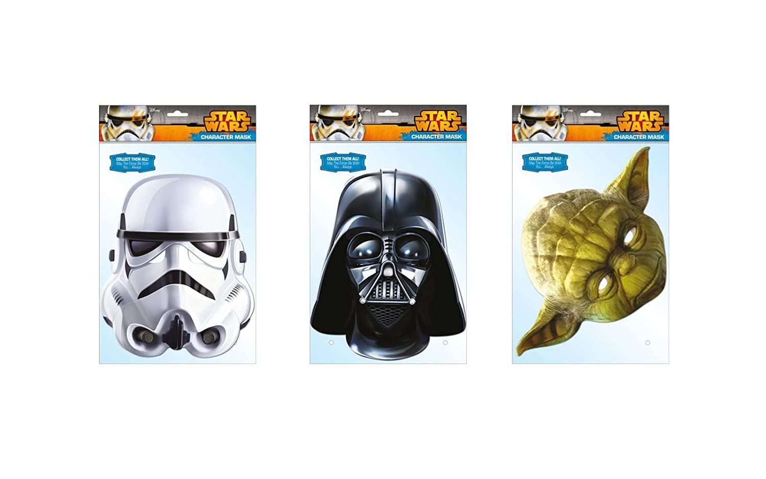 NEW Star Wars Characters Mask-Arade Face Mask/'s Funny Fancy Dress