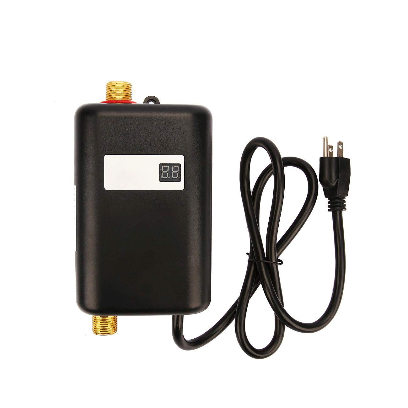 IRONWALLS 3KW 110V Mini Instant Water Heater Electric Tankless Hot Water Heater Under Sink Black for Kitchen Washing Basin Bathroom