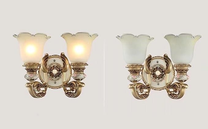Luce creativa e stile vintage doppia applique con di bei motivi di