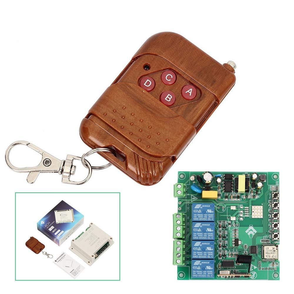 Self Lock Interlocked 433MHZ Wireless Relay Fernbedienungsschalter Inching