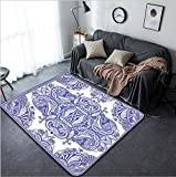 Vanfan Design Home Decorative 214878577 Traditional ornamental floral paisley bandanna You can use this pattern in the design of carpet shawl pillow cushion raster version Modern Non-Slip Doormats Ca
