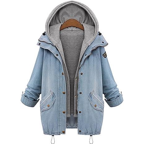 giacca jeans con cappuccio