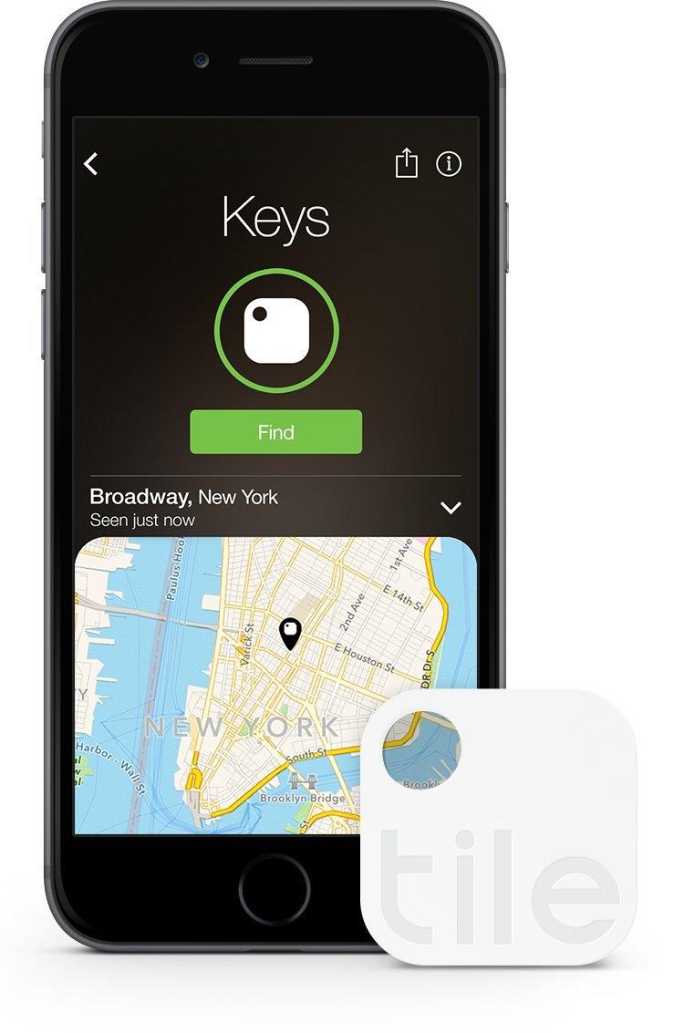Tile (Gen 2) - Phone Finder. Key Finder. Item Finder  - 4 Pack (Discontinued by Manufacturer) by Tile