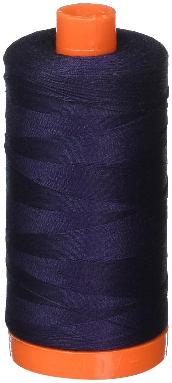 Aurifil A1050-2785 Solid 50wt 1422yds Very Dark Navy Mako Cotton Thread Aurifil USA