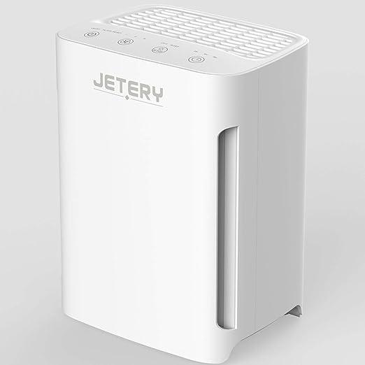 Purificador de Aire con Filtro HEPA Compacto, JETERY Depurador Aire para alergias polen olores con filtración de luz UVC, para Hogar Casas Oficinas Mascotas, Fumadores Cocina. CADR 100+m3/h, JT-8006: Amazon.es: Hogar