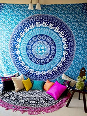 Indian Mandala Tapestry Living Room Tapestries Queen Hippie Hippy Wall Hanging