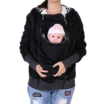 Zerodis Chaqueta portabebés, con cremallera de maternidad ...