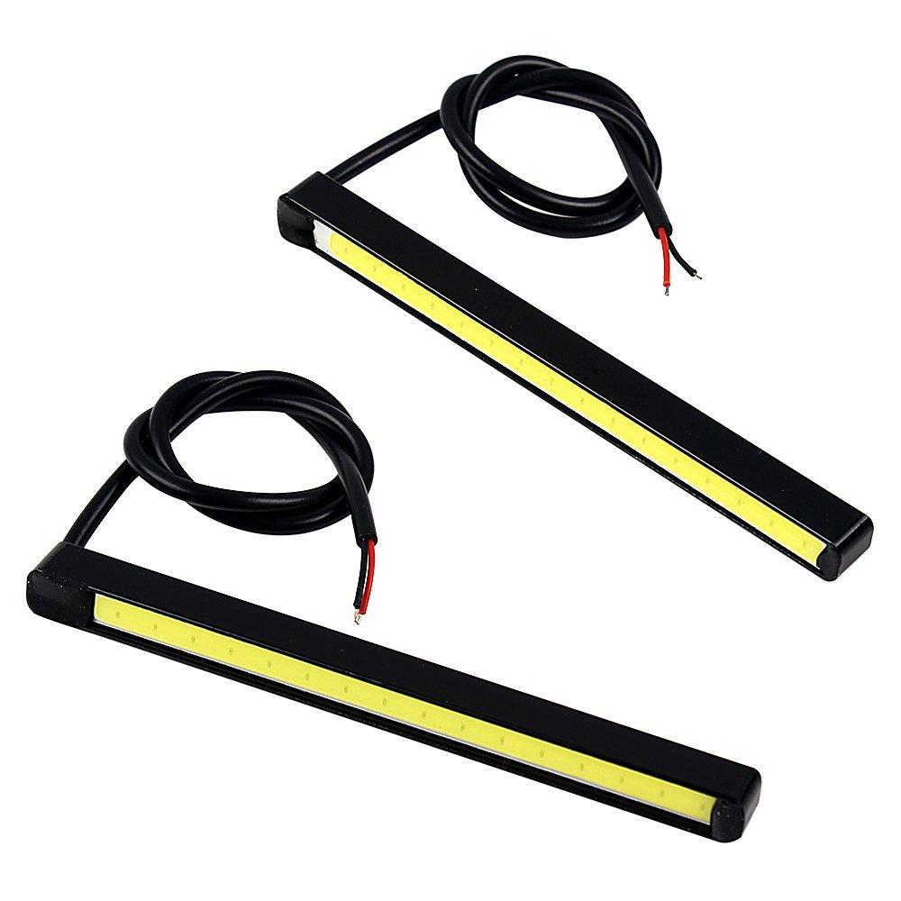 1 paire LED de voiture circulation diurnes Ultra Lumineux DC 12 V NOPNOG