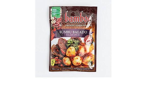 Bamboe Bumbu Balado Especias, 50 gramos (3 paquetes): Amazon.es: Alimentación y bebidas