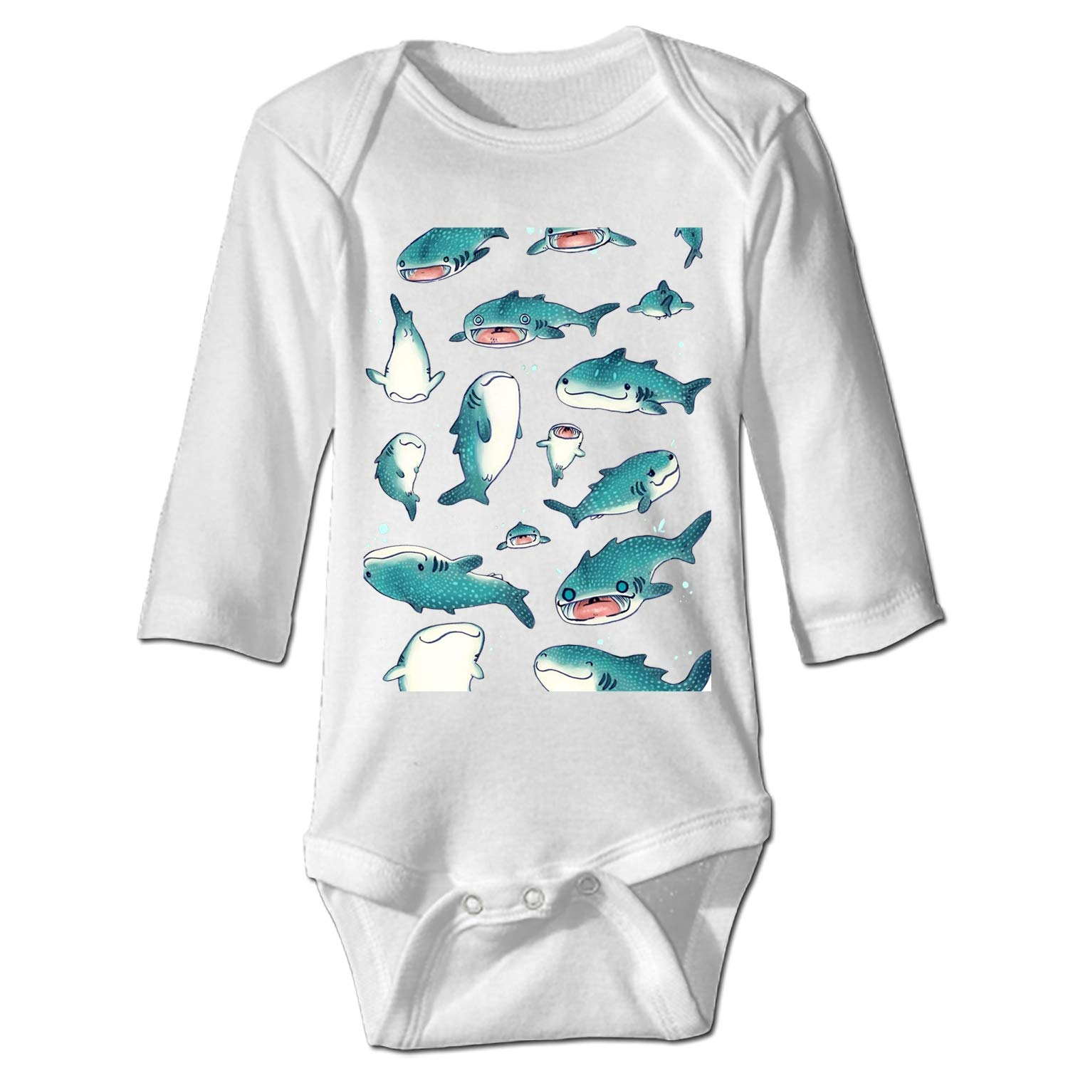Pink Baby Dolphin Bodysuit for Baby Long-Sleeve Infant Onesies