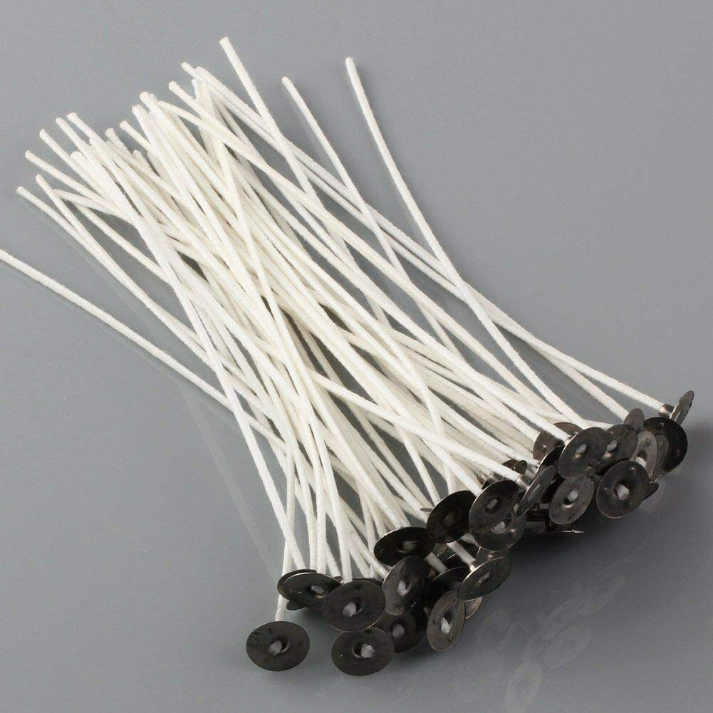 FidgetKute Lots Candle Wicks Pretabbed 6 inch Cotton CORE 20 to 200pcs Candle Making 200pcs