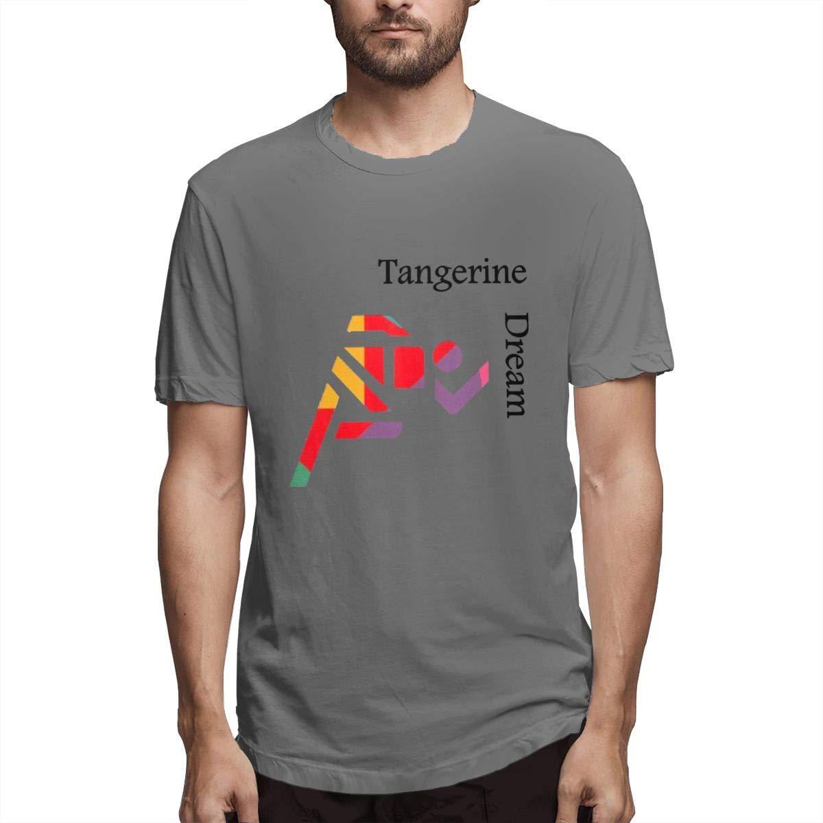 Seuriamin Tangerine Dream Band Mens Comfortable Running Short Sleeve Tee
