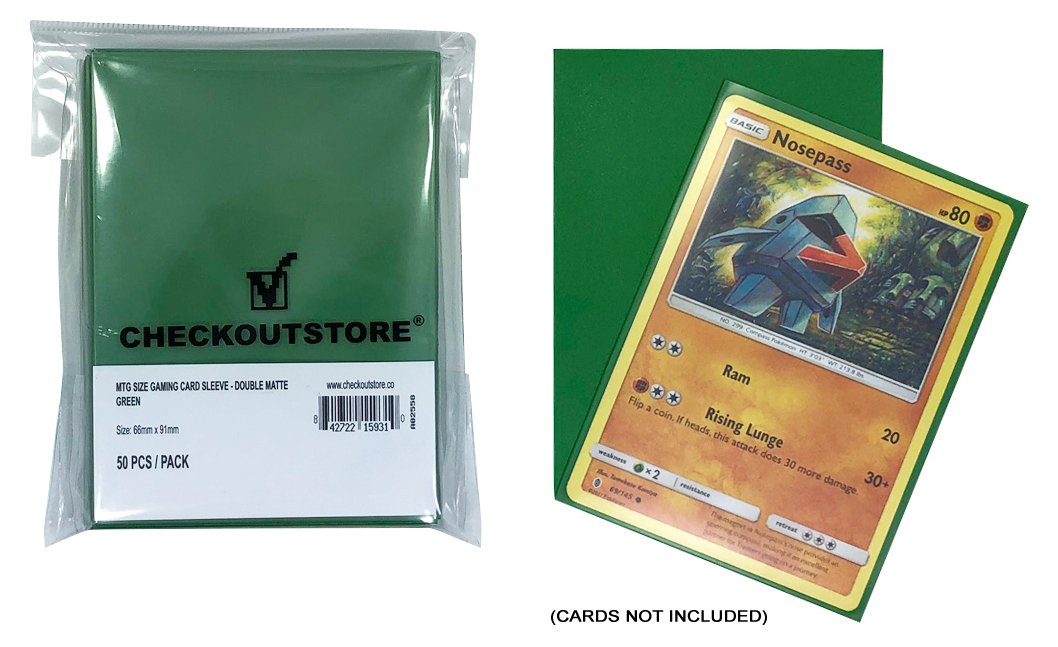 0ef9b5d00a4 Amazon.com  CheckOutStore (200) Protective Sleeves for Trading Cards (66 x  91 mm) (Double Matte Red)  Toys   Games