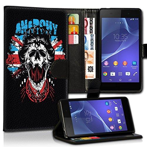 Wallet Book Style Flip Handy Tasche Case Schutz Hülle Schale Motiv Etui für Apple iPhone 5 / 5S - Design Flip MVD415