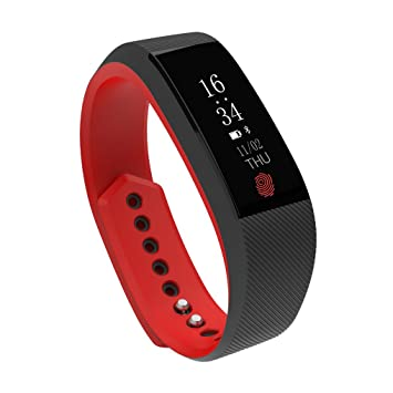 ZIMINGU Smart Bracelet Fitness SmartWatch with Heart Rate Monitor Activity  Tracker Pedometer Calorie Counter Sleep Monitor Remote Camera IP67