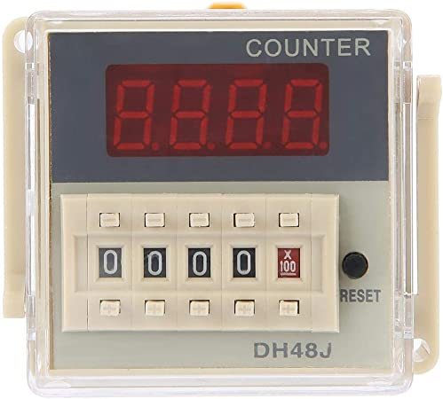 DH48J-11A 11-Pin 1-999900 220VAC LED Display Counting Relay Used Counting Control in Automatic Control System Digital Counter Relay