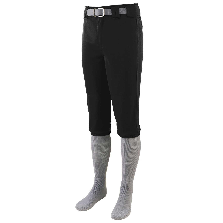 Augusta Sportswearメンズシリーズ膝長野球パンツ B015JNRVL8 Large|ブラック ブラック Large