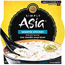 Simply Asia Sesame Chicken Rice Noodle Soup Bowl, 2.5 oz (Pack of 36)