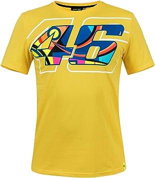 Valentino Rossi VR46 - Camiseta para hombre, diseño de casco, color amarillo: Amazon.es: Ropa y accesorios