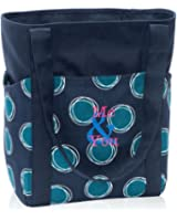 0c6912a8d293 Amazon.com | Thirty One Go-To Tote in Navy Dancing Dot - No Monogram ...