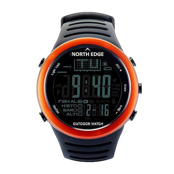 North Edge 720 Reloj de Pesca al Aire Libre termómetro barómetro del termómetro Hombres Deportes Digitales