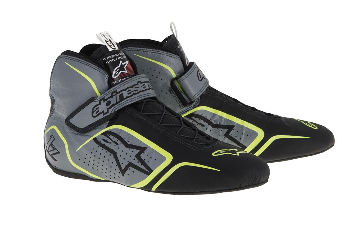 Alpinestars Tech 1-Z Driving Shoe 2715115-123-10 Black//White//Red FIA//SFI Approved Size 10