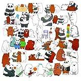 Zontlink 36Pcs Cartoon We Bare Bears Cute Bears Stickers Little Bear Sticker Graffiti PVC Waterproof Sticker for Laptop Toy Car Luggage