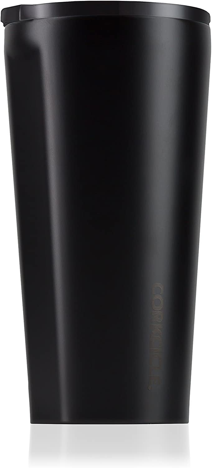 Corkcicle Tumbler - Dipped Collection - Triple Insulated Stainless Steel Travel Mug, Dipped Blackout, 16 oz