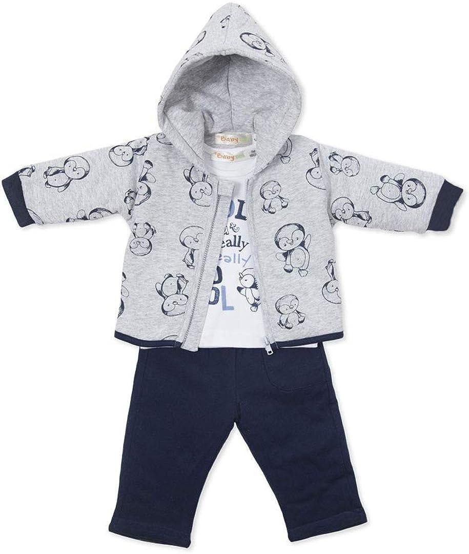 BABY-BOL - Chandal Bebe 3 Piezas bebé-niños Color: Marino Talla ...
