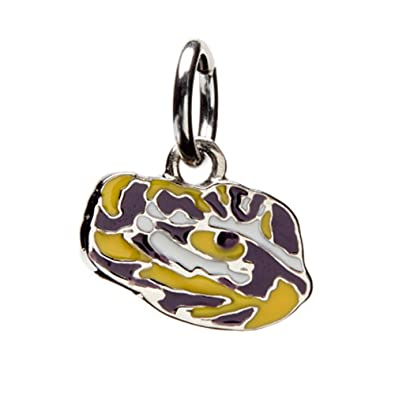 Louisiana State University Charm | LSU Tigers - Tiger Eye Pendant Charm | Officially Licensed Louisiana