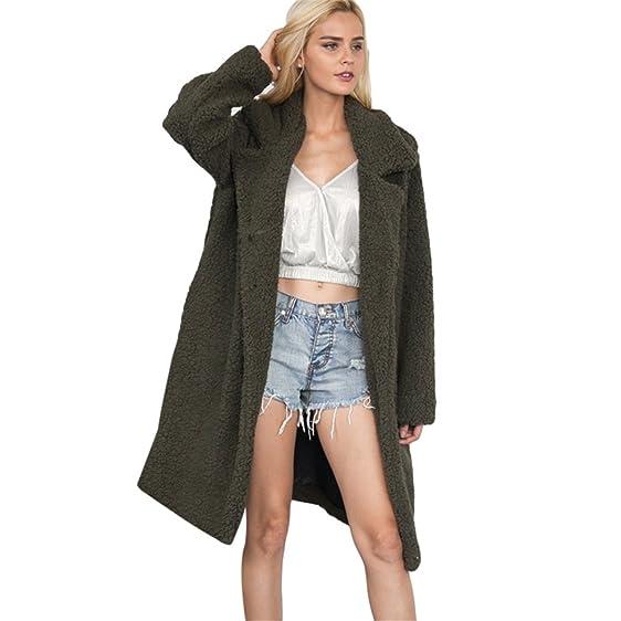 Amazon.com: FUNOC Women's Winter Warm Loose Oversized Long Fleece ...