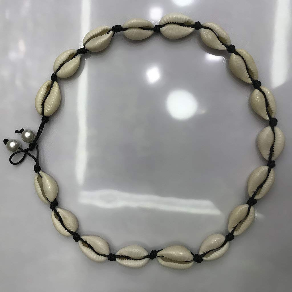 DondPO Freshwater Pearl Shell Necklace Choker Cord Bracelet Retro Natural Ladies Accessories for Women Girls